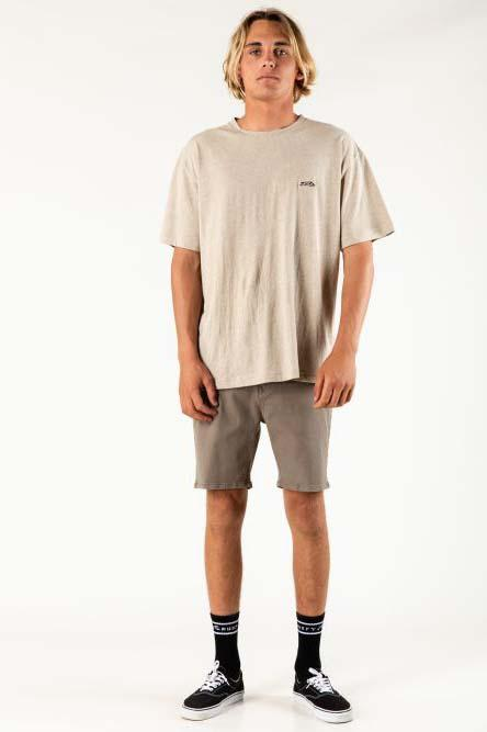 RUSTY The John Chino Short Faded Olive Front Full