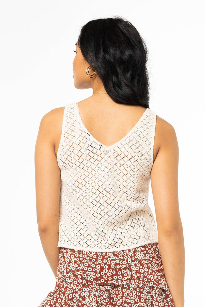 RUSTY Sundance Top Vintage Cream Back