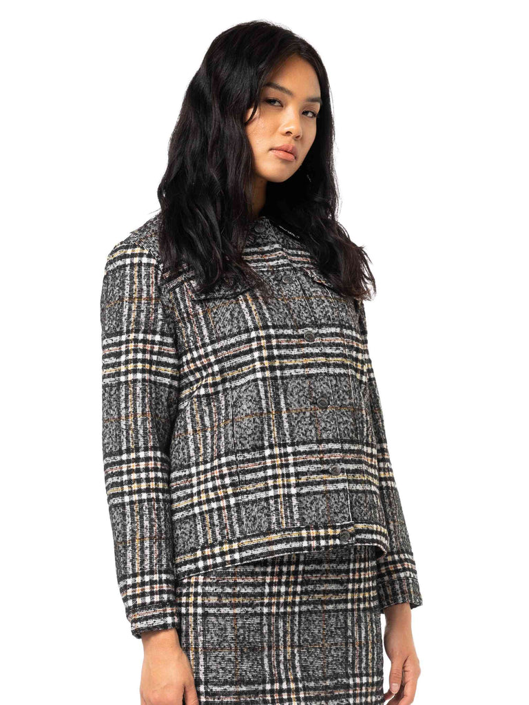 RUSTY Willow Jacket Black Side Angle Closed