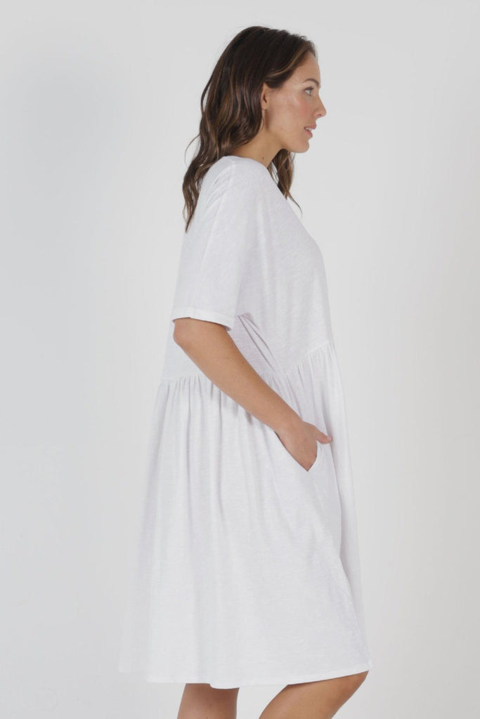 BETTY BASICS Portsea Dress White Side