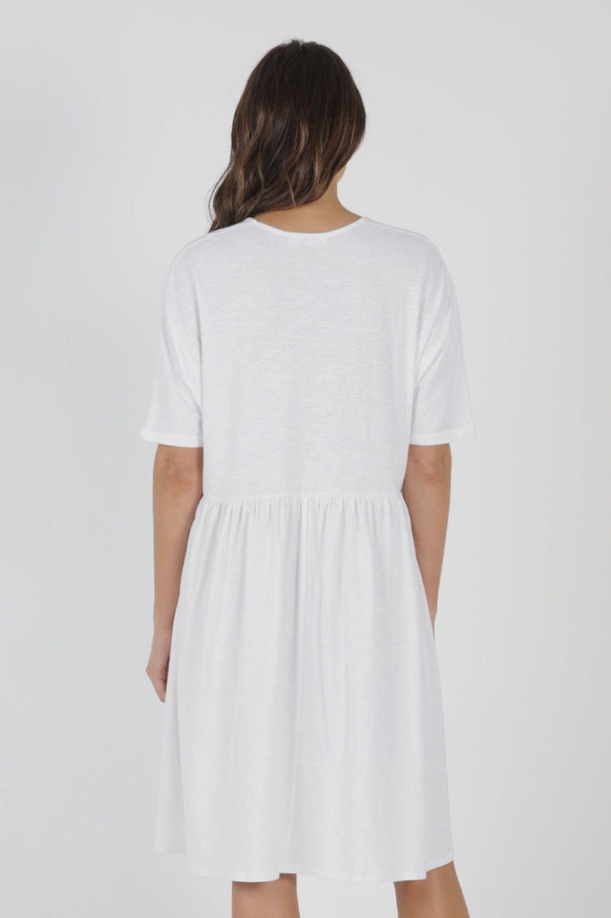 BETTY BASICS Portsea Dress White Back