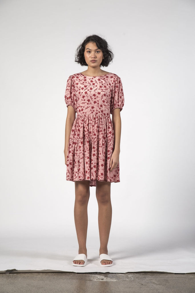THINGTHING Poppy Dress Floral Pink Front