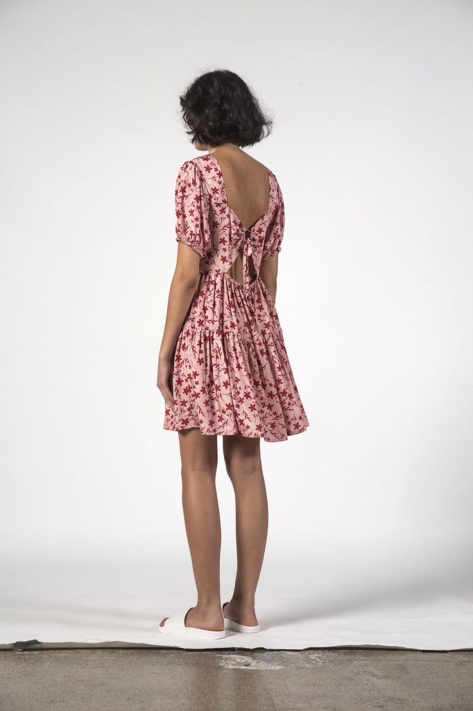 THINGTHING Poppy Dress Floral Pink Back