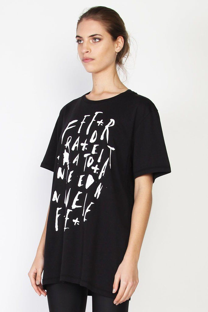 FEDERATION Scatter Rush Tee Black Side Angle