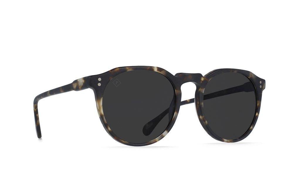 RAEN Remmy Matte Brindle Tortoise Smoke Polarised 52 Side Angle
