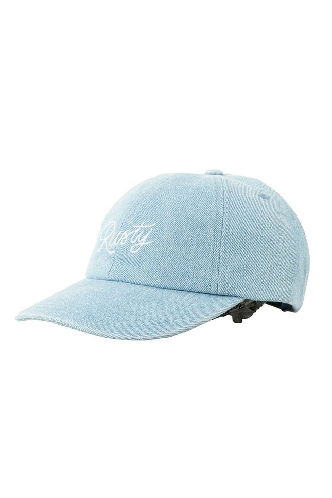 RUSTY Too Easy Adjustable Cap Bone Blue Side Angle