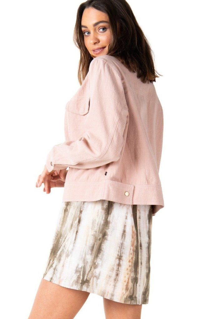 RUSTY Lovewild Jacket Rose Cloud Back