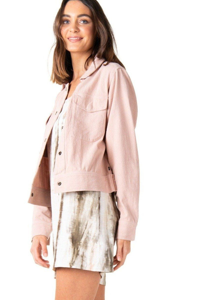 RUSTY Lovewild Jacket Rose Cloud Side Angle