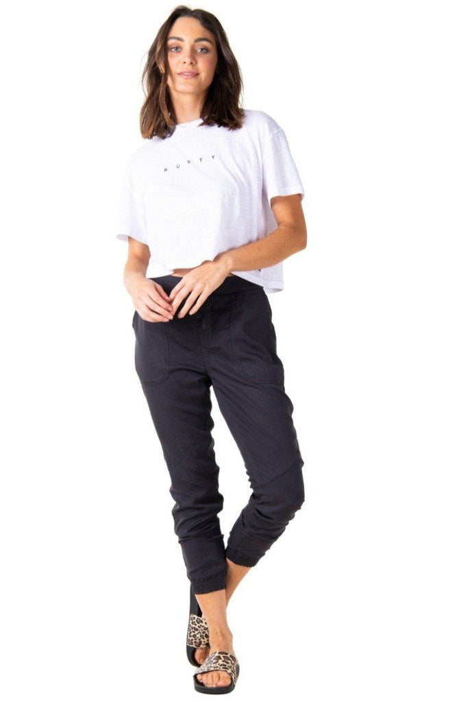 RUSTY Bounds Pant Blue Graphite Front Full