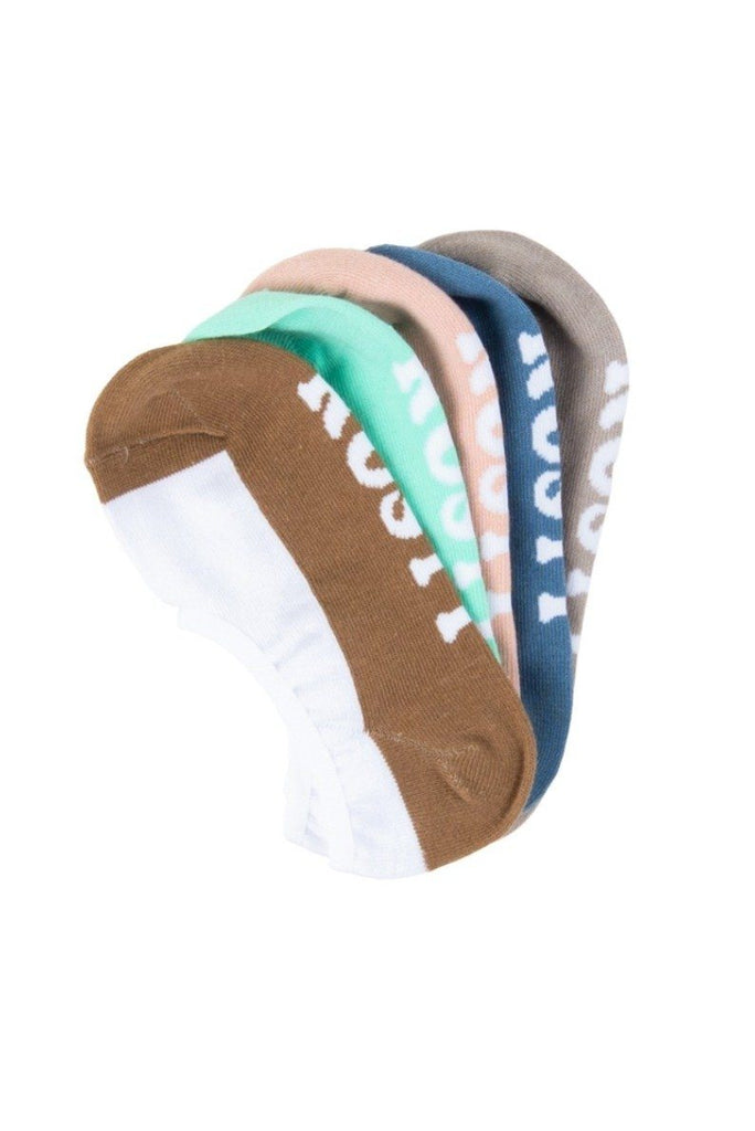 RUSTY All Day Invisible 5 Sock Pack Multi 1