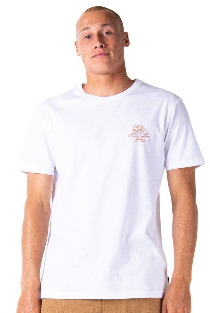 RUSTY Salvador Short Sleeve Tee White Front