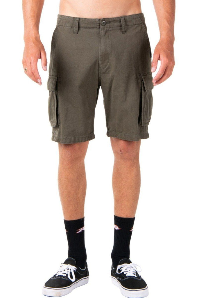 RUSTY Manila Cargo Short Rifle Green Front