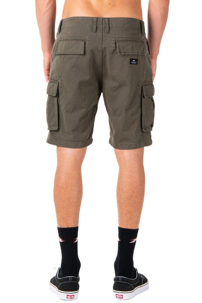 RUSTY Manila Cargo Short Rifle Green Back