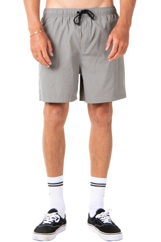 RUSTY Atoll Elastic Short Gravity Grey Front