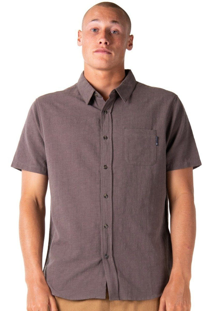 RUSTY Overtone Short Sleeve Shirt Falcon front