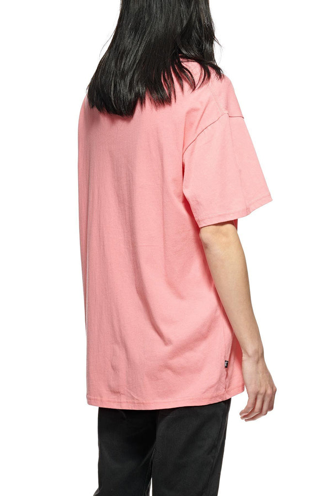 STUSSY City Stack Tee Hot Coral Back