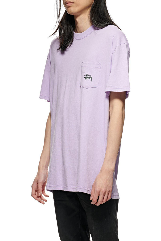 STUSSY Graffiti Pocket Tee Lilac Front