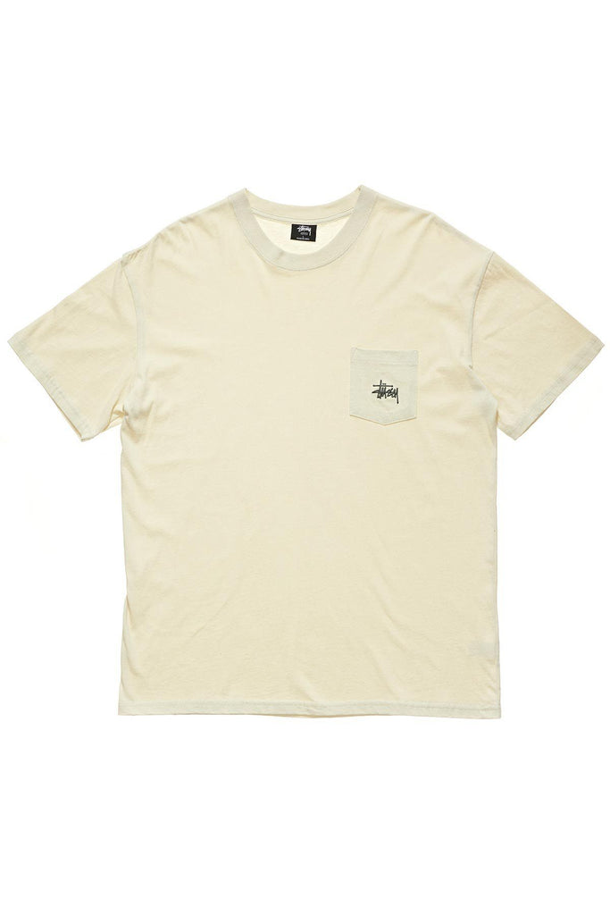 STUSSY Graffiti Pocket Tee Warmed White Front
