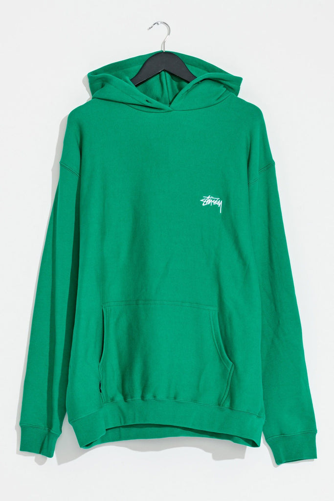 STUSSY Stock Hood Hunter Green Front