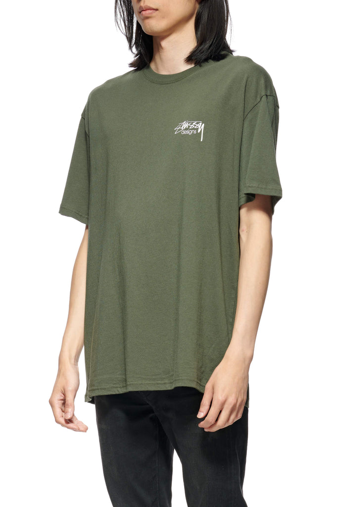 STUSSY Design Ss Tee Flight Green Front