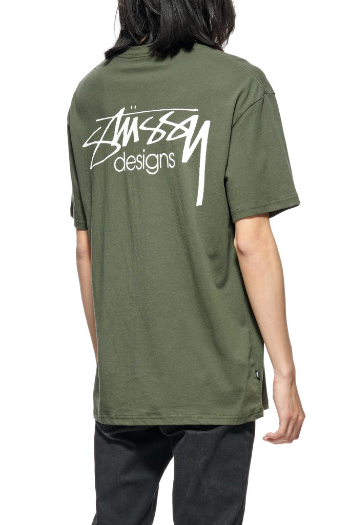 STUSSY Design Ss Tee Flight Green Back