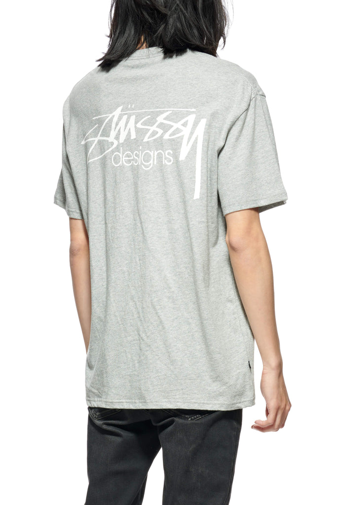 STUSSY Design Ss Tee Grey Marle Back