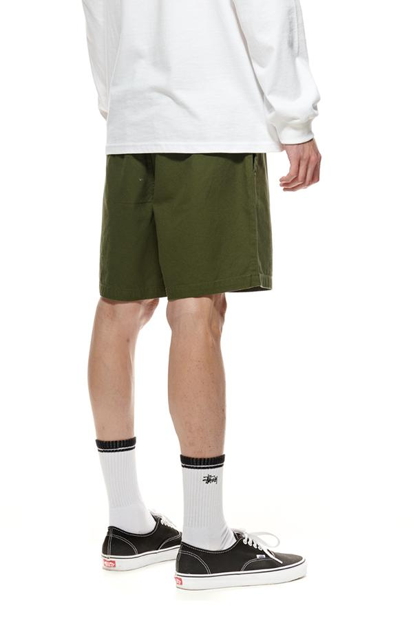 The Stussy Pin Drill Shorts Flight Green Back