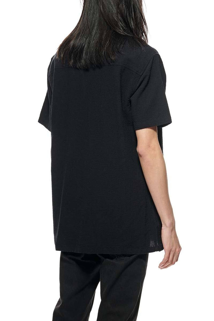 STUSSY Grid Seersucker Shirt Black Back