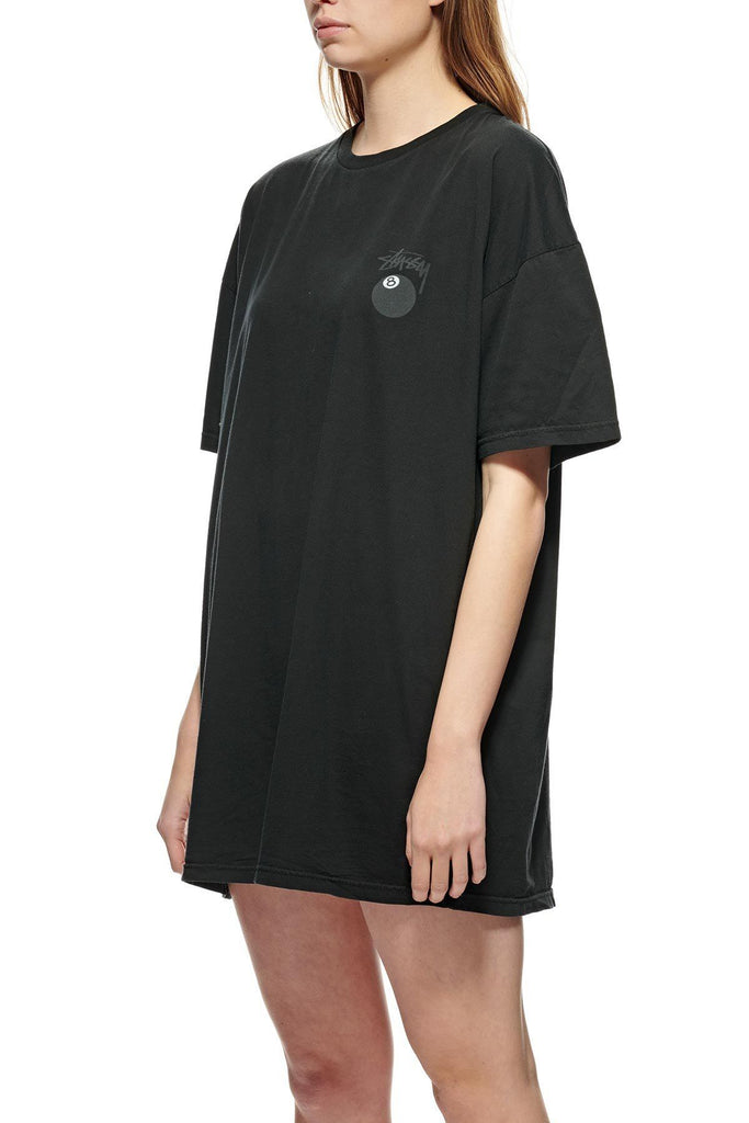 STUSSY Eight Ball Pigment Tee Dress Black Front
