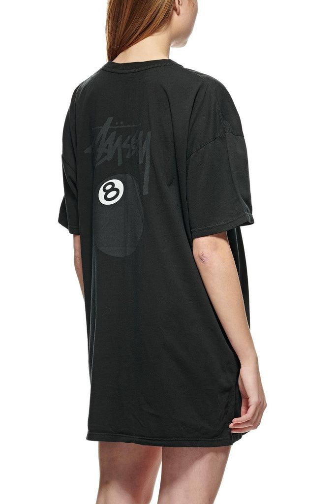 STUSSY Eight Ball Pigment Tee Dress Black Back