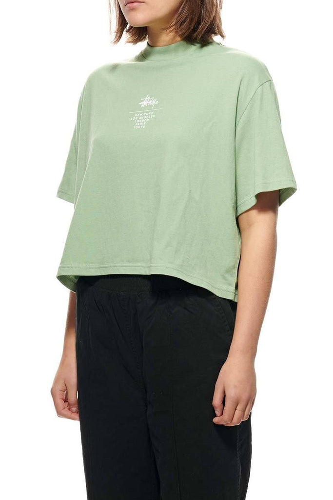 STUSSY Copyright Boxy Tee Basil Front