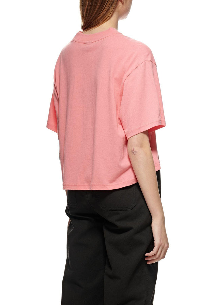 STUSSY Copyright Boxy Tee Hot Coral Back