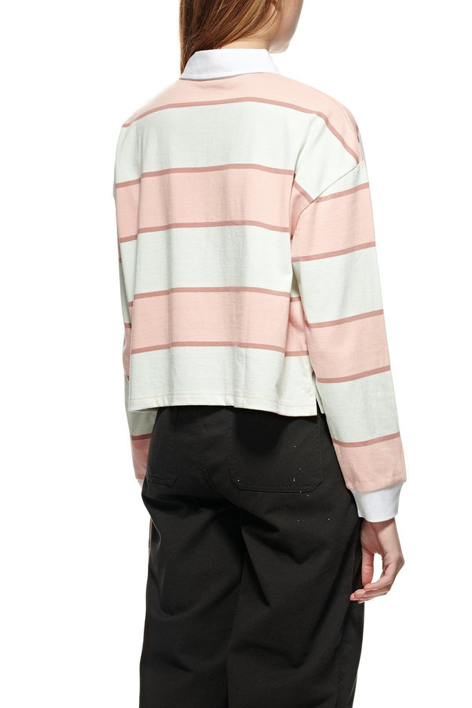 STUSSY Manning Stripe Rugby Dusty Coral Back