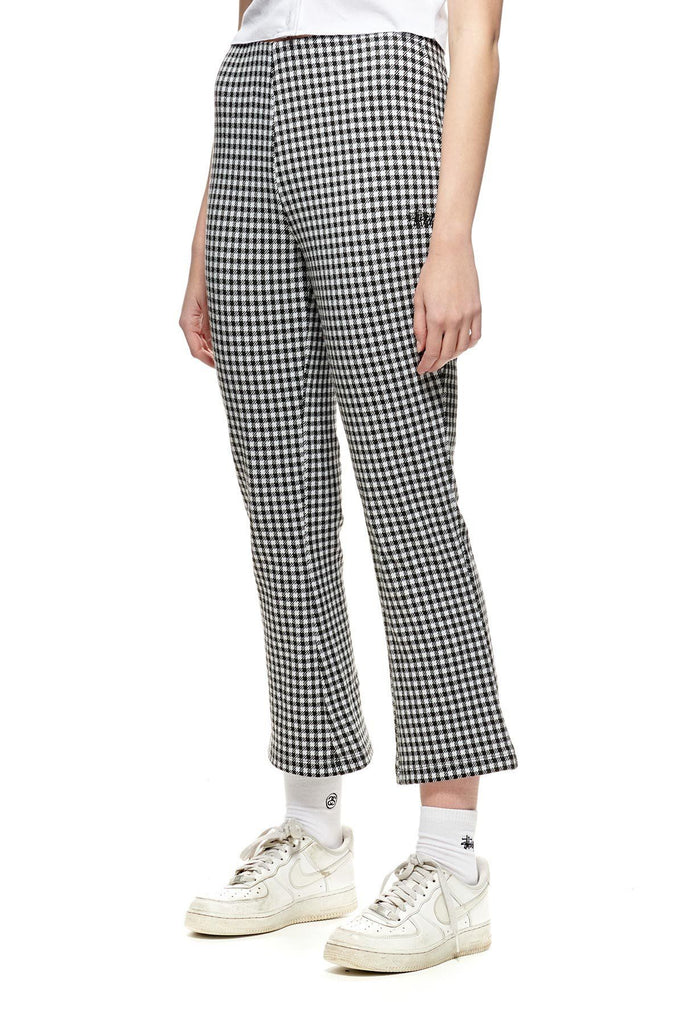 STUSSY Montrose Knitted Check Pant White Black Front