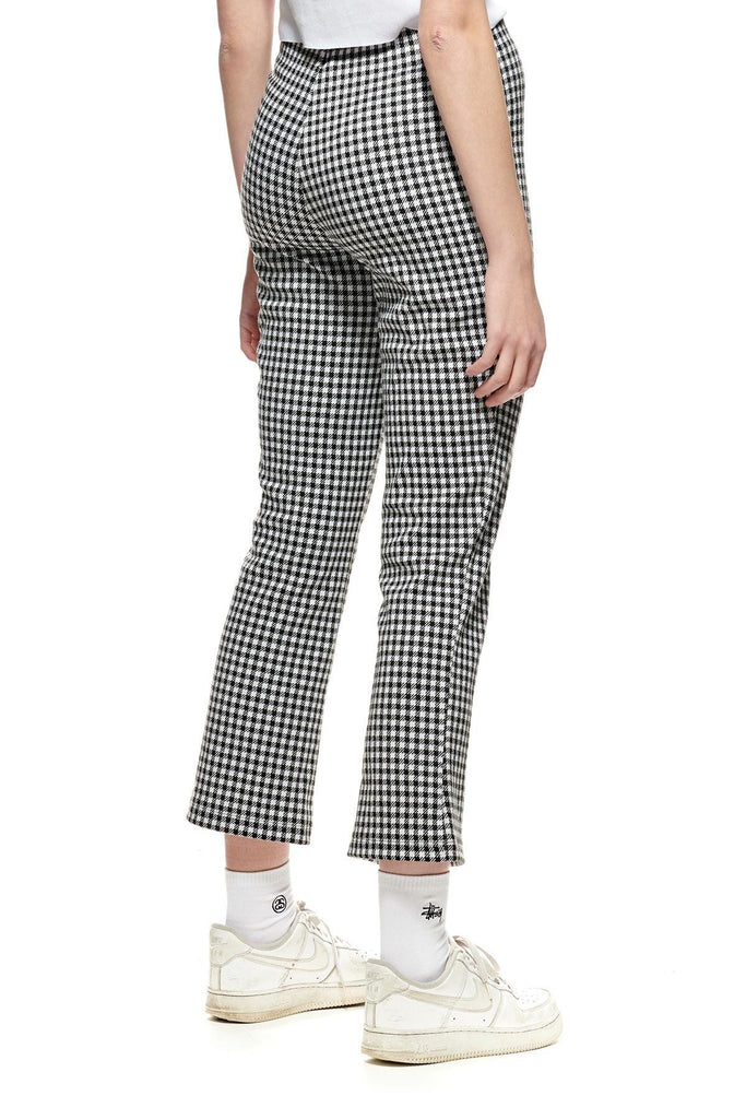 STUSSY Montrose Knitted Check Pant White Black Back