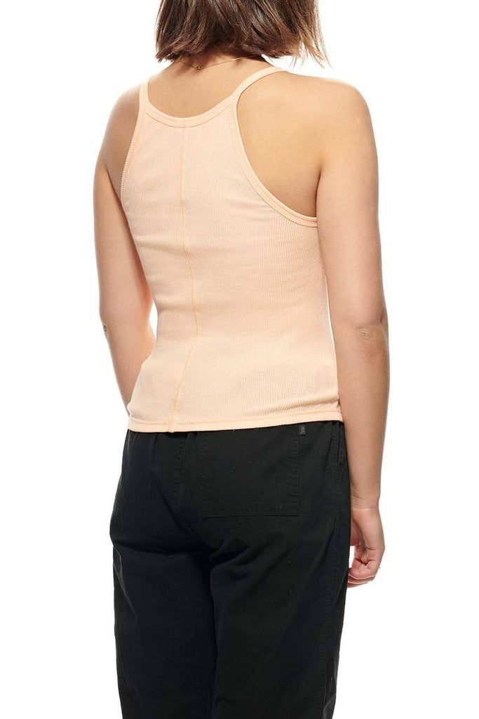 STUSSY Graffiti Rib Tank Peach Back