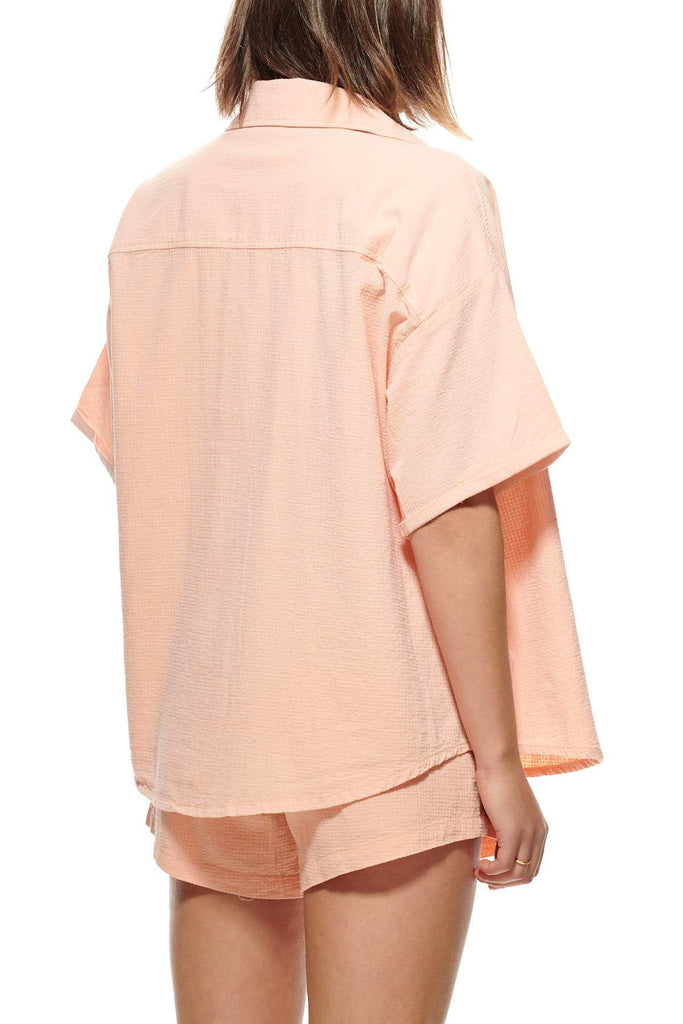 STUSSY Vermont Os Shirt Peach Back