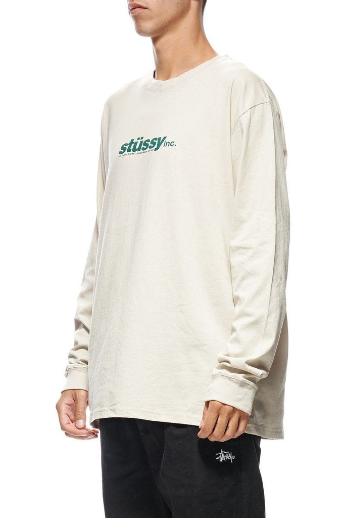STUSSY Stussy Cities Ls Tee White Sand