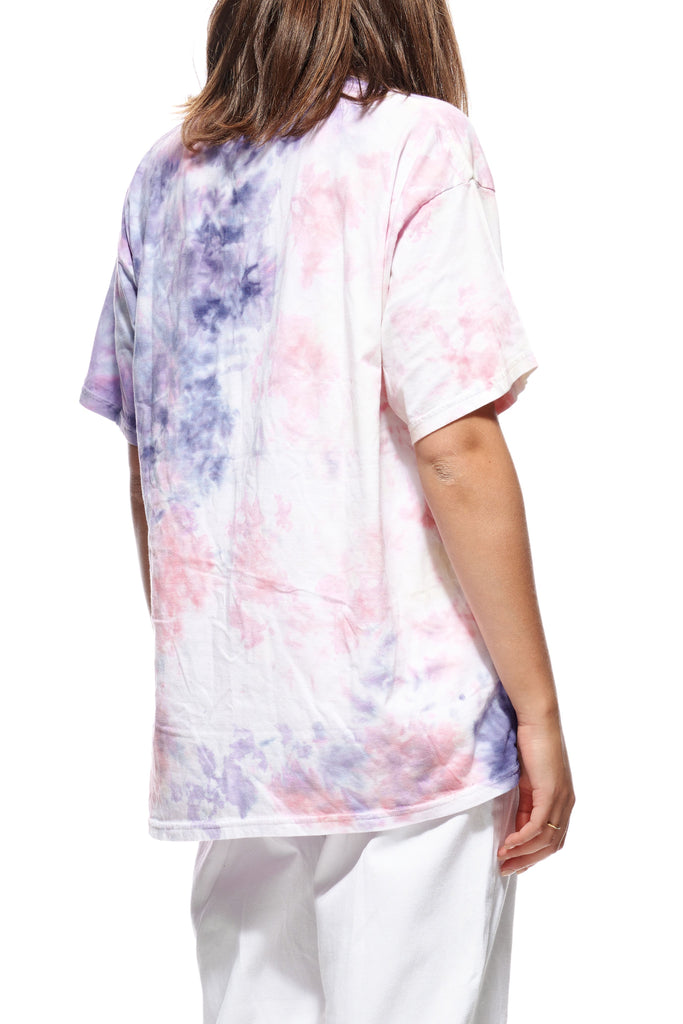 STUSSY Cities Tie Dye Relaxed Tee Mauve Back