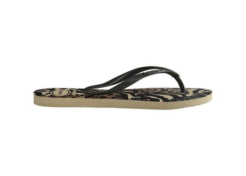 HAVAIANAS Slim Animals Green Olive Single Flat
