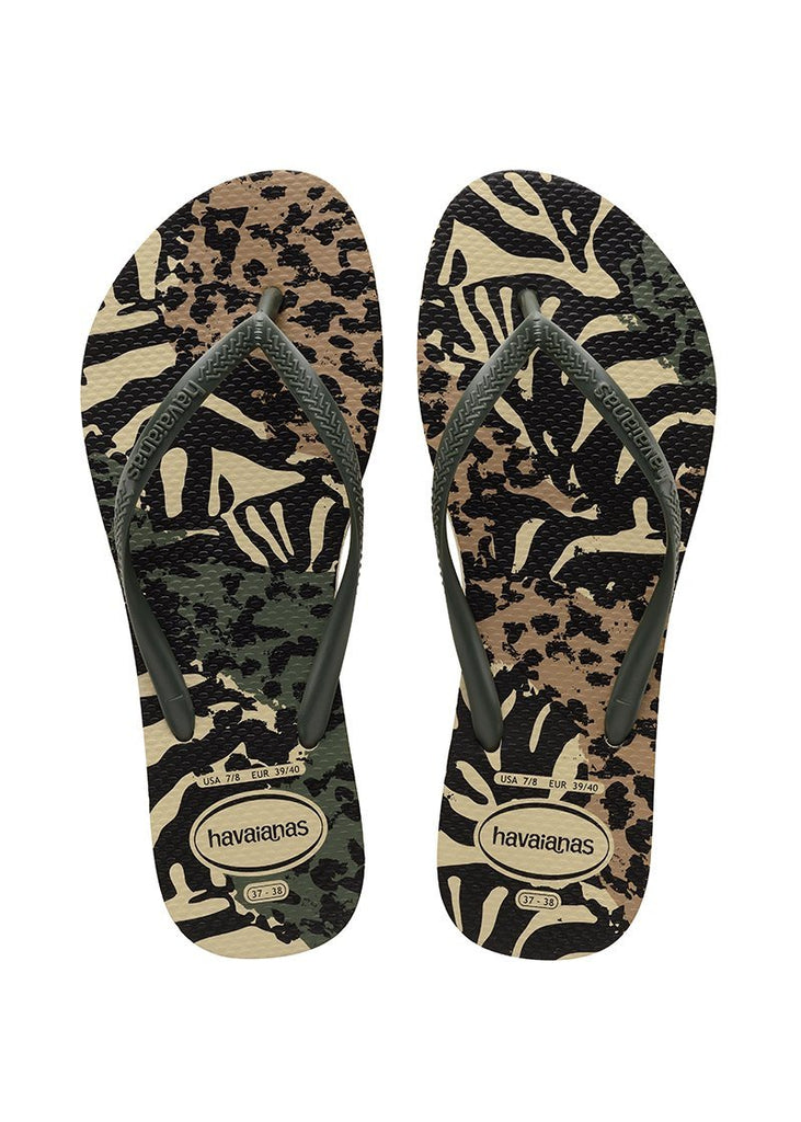 HAVAIANAS Slim Animals Green Olive Pair