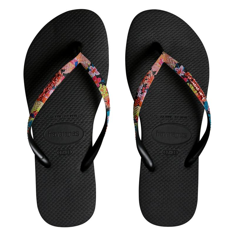 HAVAIANAS Slim Strapped Flowers Pair
