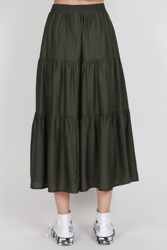FEDERATION Tier Skirt Olive Back