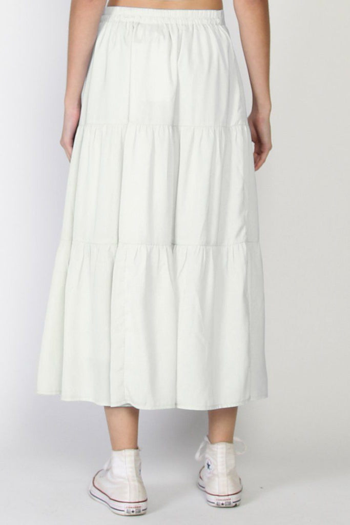 FEDERATION Tier Skirt Ivory Back