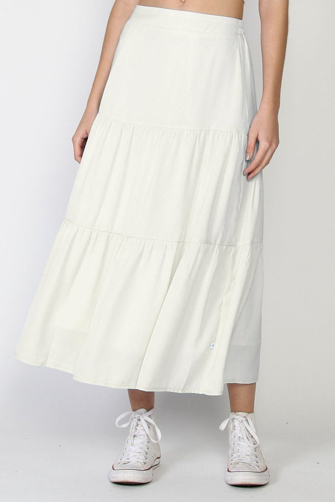 FEDERATION Tier Skirt Ivory Front