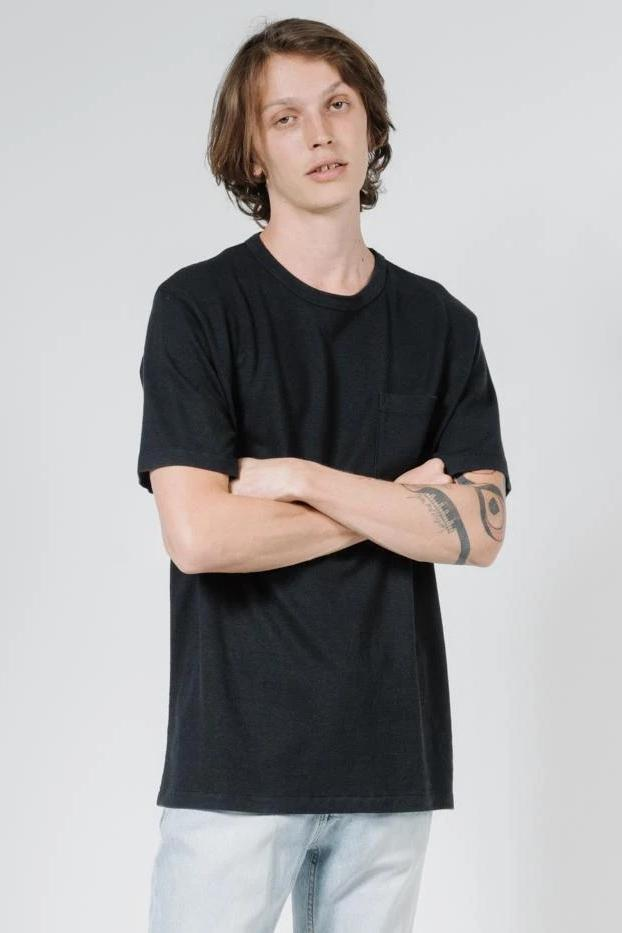 THRILLS Endless Merch Fit Pocket Tee Black Front