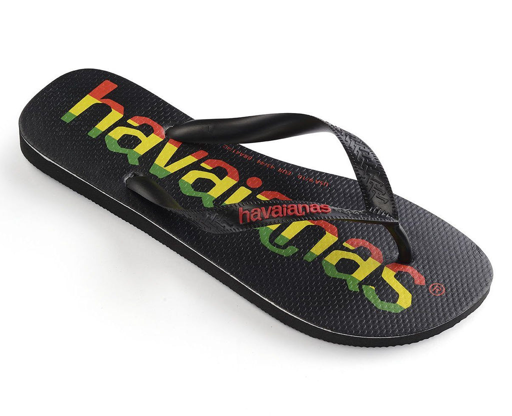 HAVAIANAS Top Logo Mania Black/Red Single