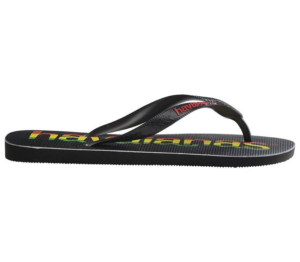 HAVAIANAS Top Logo Mania Black/Red Single Flat