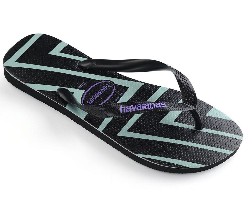 HAVAIANAS Top Zig Zag Black Lilac Single