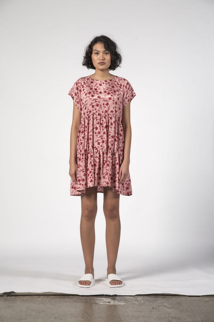 THINGTHING Twirl Dress Floral Pink Front